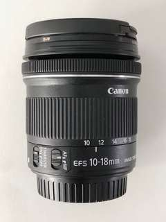 Canon EF-S 10-18mm with B+W x-pro filter