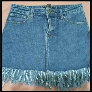 Preloved denim mini skirt