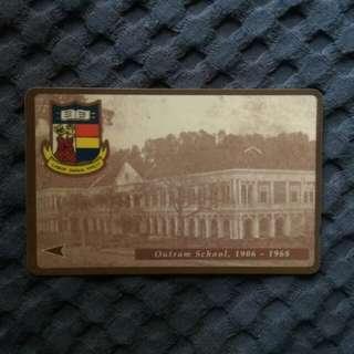Rare phonecard - Outram School 1906-1968