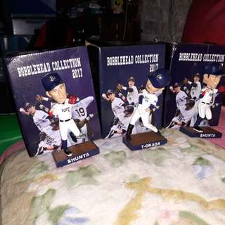 Baseball bobbleheads one set orix buffaloes japan