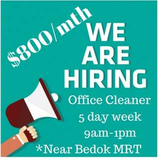 Bedok Office Cleaner Part Time