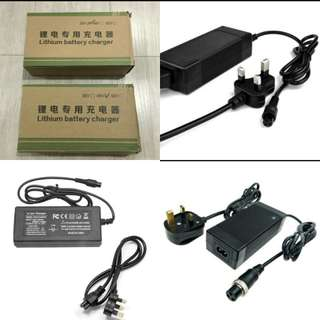 Electric scooter escooter escooter charger charger charger charger charger 36v and 48v lithium battery battery