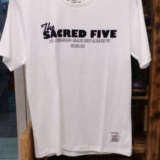 Tshirt Kaos Bikers Brotherhood Sacred Five White