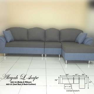 Sofa Set Furniture Aleyah L-shape Uratex Foam