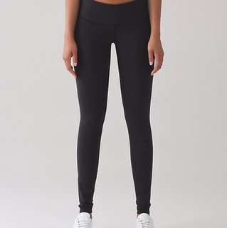 Lululemon wunder under leggings black