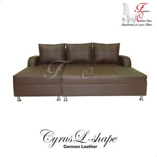 Furniture Sofa Set Cyrus L-shape Uratex Foam