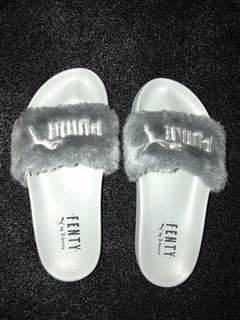 Grey gently puma slides- size 6