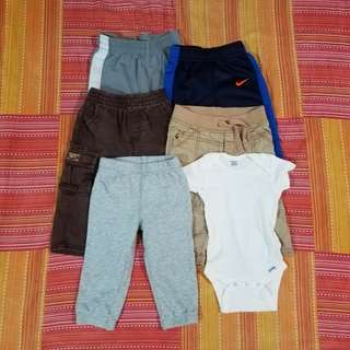 Baby Boy Assorted Pants and Onesie 12 Months