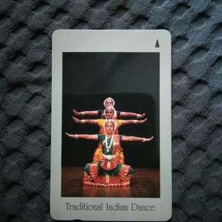 Rare phonecard - Traditional Indian Dance