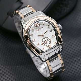 (New) Aigner Dirty Silver Gold