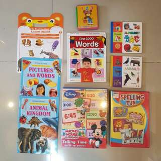 9 assorted learning books for kid