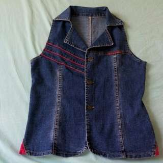 Denim sleeveless top (pre-loved ❤) size: small