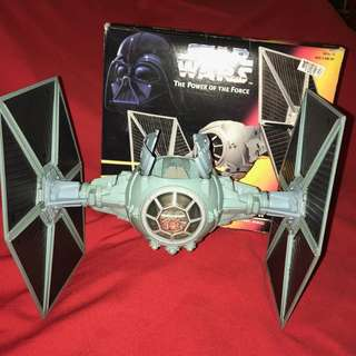 Star Wars The Power of the Force Tie Fighter with Ejecting Solar Panel Wings Vintage 1995