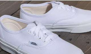 Vans authentic true white sneakers