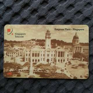 Rare phonecard - Empress Place