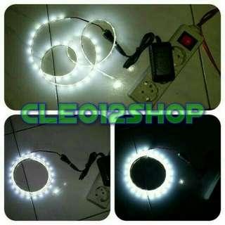 Lampu LED Strip 3528 1 Meter + Adaptor (Lampu Hias/Dekorasi)