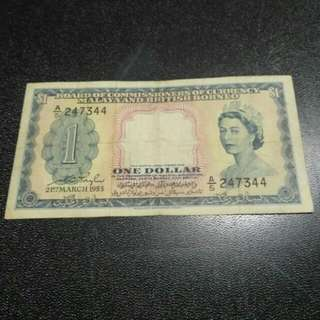 One Dollar Board Of Commissioners Of Currency Malaya And British Borneo