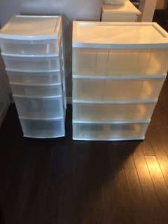 White plastic drawer caddy