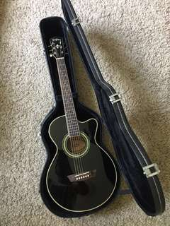 Travel size Washburn semi acoustic guitar