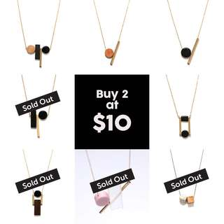 Buy 2 @ $10! Summer Sale! Geometry Necklaces