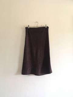 Trumpet Cut Glittered Skirt