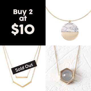 Buy 2 @ $10! Summer Sale!  Geometry Short Chain Necklaces