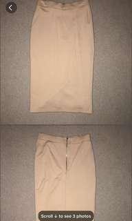 Bardot nude high waist skirt 6