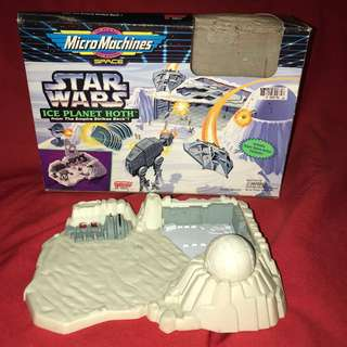 Star Wars Ice Planet Hoth Playset Galoob Micromachines Empire Strikes Back Vintage 1990s