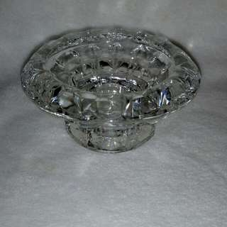 Pair Vintage Bolsius France Crystal Glass Candle holder