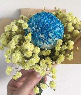 Blue ping pong bouquet