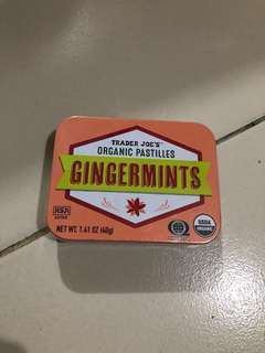 Trader joes organic ginger mint candy