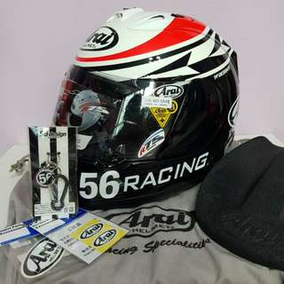 Arai RX7 RR5 56 Shinya Nakano Size L with authentic signature**pls read below first**