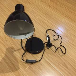 Metal desk lamp black