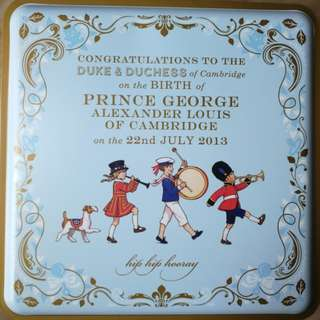 Prince George 2013 Commemorative M&S biscuit tin