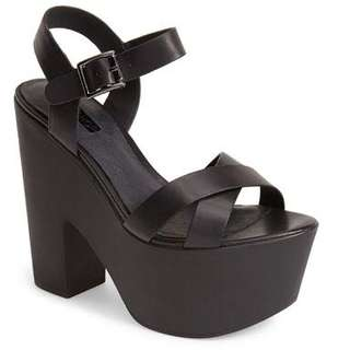 Topshop strappy platform sandal heels