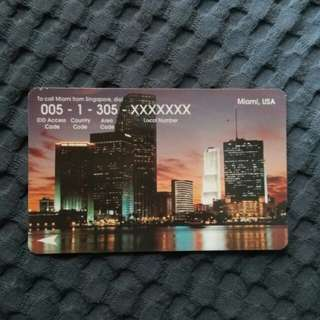Miami USA - rare phonecard