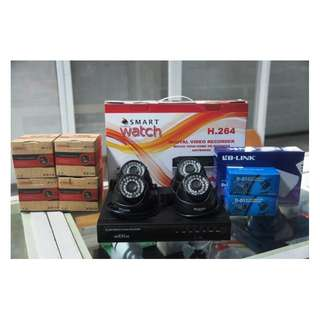 CCTV IP 720P HD with 1TR Storage  Package (4pcs KC1.0D002B Indoor Camera)