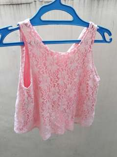 Sleeveless lace fit for small to med