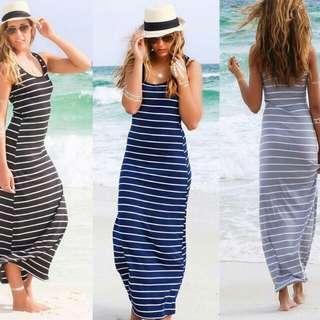 🍃Stripe Maxi Dress
