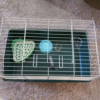 Used cage with accessories