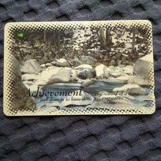 Achevement - rare phonecard