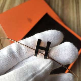 🐰HERMÈS Hermes Pop h necklace 『黑玫瑰金』