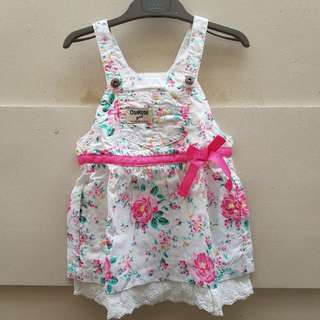 oshkosh flowery playsuit