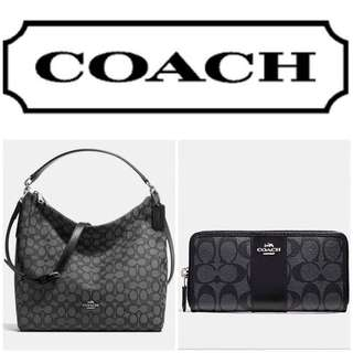 NWT Authentic Coach HoBo and wallet swt