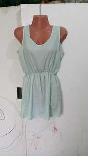 Mint green mini dress