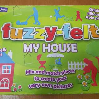 Fuzzy felt create your picture house