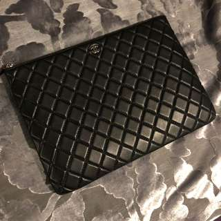 Chanel Quilted Lambskin Envelope Clutch No.20 iPad case