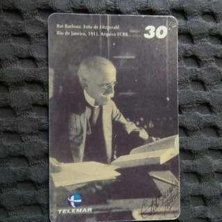 Rui Barbosa - rare phonecard