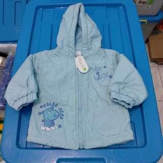 Jaket bayi biru