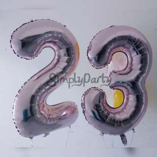 ROSE GOLD HELIUM NUMBER BALLOON